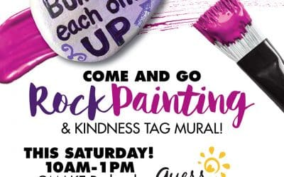 Rock Painting & Kindness Tag Mural Event Saturday, September 16