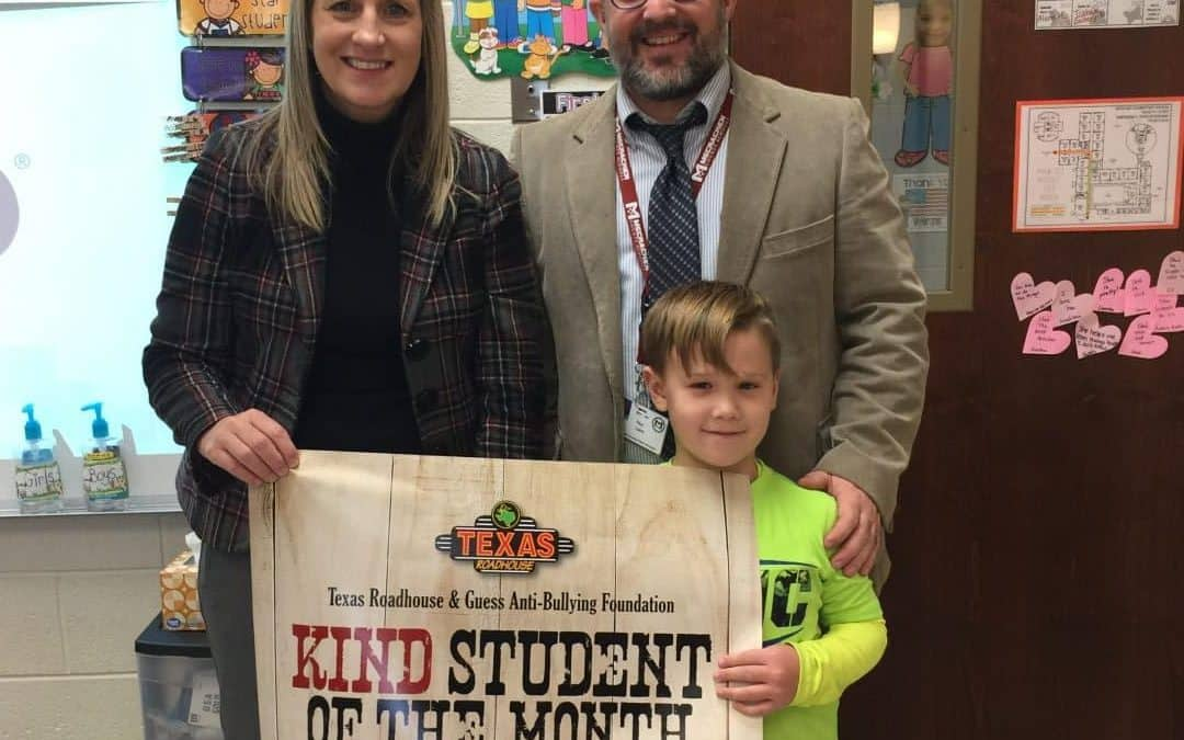Mason Hall Named November Kind Student of the Month