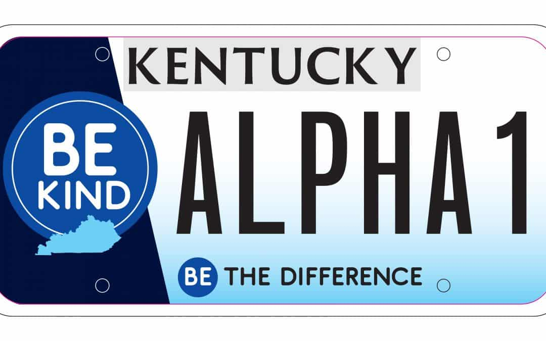 Be Kind Kentucky License Plate Approved for Guess Foundation